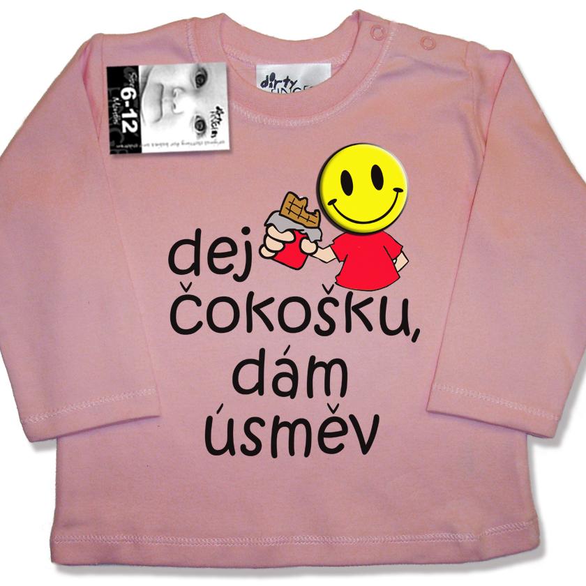 Vtipná trička s potiskem pro děti Dej čokošku - MimiNiki.cz 576779767d