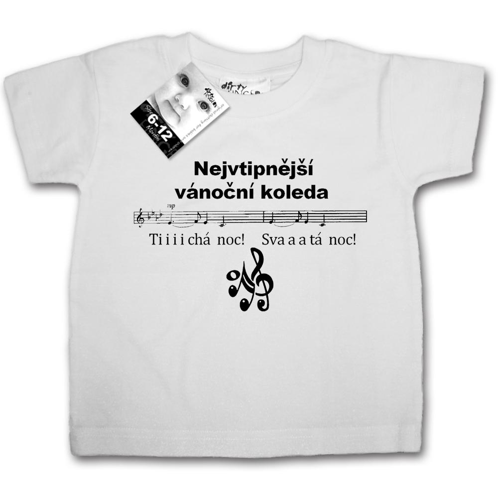 Vtipná trička s potiskem dětská Nejvtipnější vánoční koleda - MimiNiki.cz f74f4c55df
