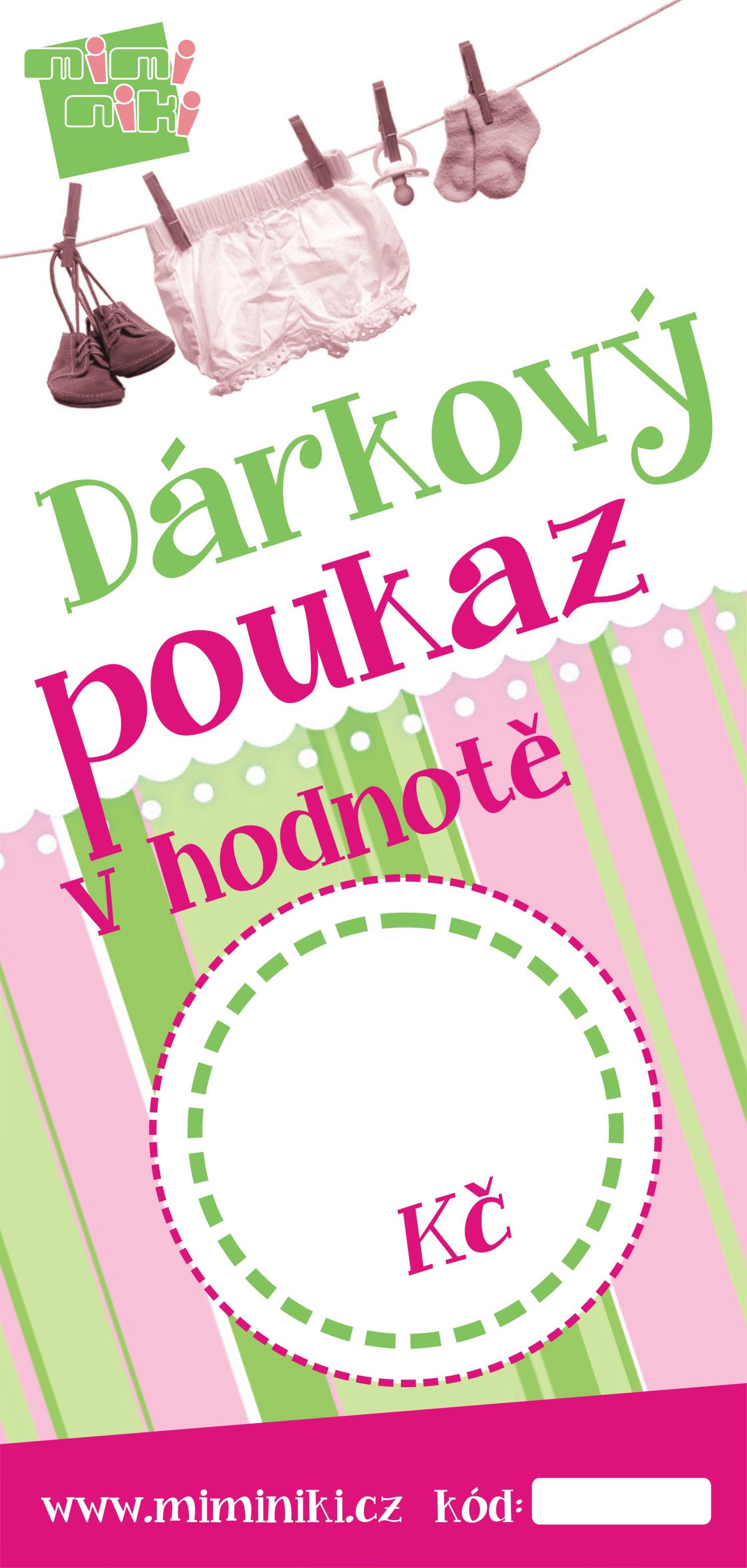d1f5e6758fc Dárkový poukaz - MimiNiki.cz