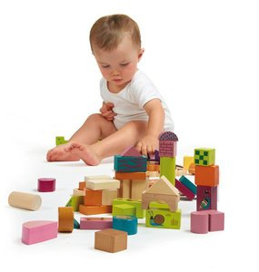 Dřevěné kostky O-OOPS - Happy Building Blocks!