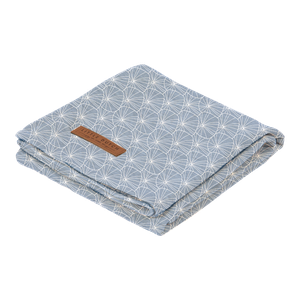 Little Dutch osuška swaddle | Lily leaves blue